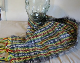 Hand Woven Plaid Scarf