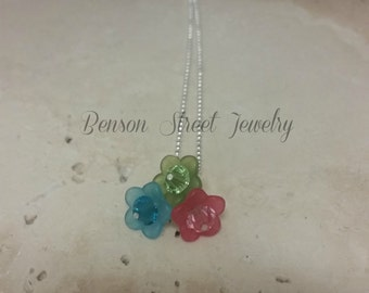 Swarvoski Crystal & Resin Flower Necklace