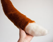 Fluffy Fox Tail, Faux Fur Fox Tail, Pretend Play, Children Gift Idea