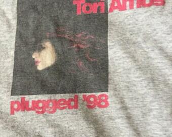 Tori Amos Shirt Vintage Tori Amos Plugged 98 T Made in USA Mens Size XL