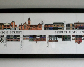 Harborne High Street Illustration