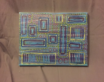 """11 x 14 Acrylic Painting in Abstract Format titled """"To The Left"""""""