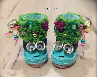 Super Cute Handmade Shoes for Blythe Lati Yellow Pukifee Doll - Cute Joyful Minion