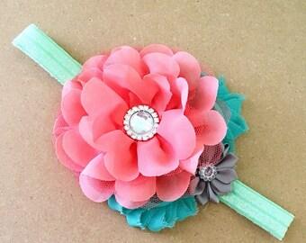 Coral & Mint Headband