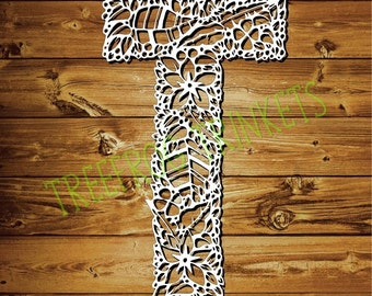 Papercut Template - Letter T for COMMERCIAL USE