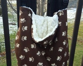 Paw Prints Puppy Dog Brown White Fleece Baby Carrier Cover Tula Beco Boba Kinderpack