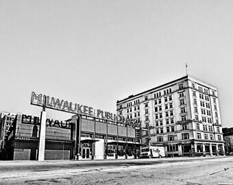 Milwaukee Photography, Milwaukee Public Market, Milwaukee Third Ward,  Black & White Photograph, Milwaukee, Wisconsin, Wall Decor 8x10 photo