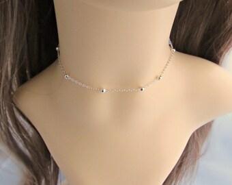 Choker, Chain Choker, Ball Chain Choker, Bead Choker, For Girls, Bridesmaid Gifts, UK Seller, Bridesmaid Choker, Chain Jewelry Gifts