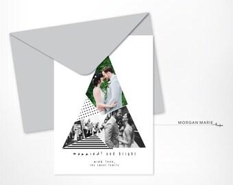 Custom Printable Holiday Card, Tree, Multiple Photos