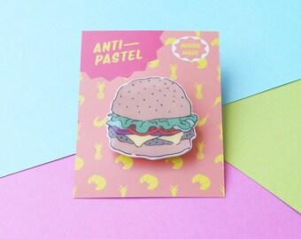 Badge: Burger Brooch/Button