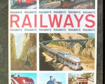 Vintage 1963 Railways Train History Hardcover Book by Howard Loxton