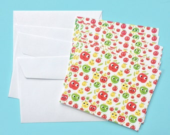 Apples Notecard Set (10 Blank Notecards with Envelopes)