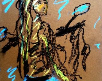 Original Pastel Sketch from Artisan - Humility