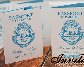 Destination passport wedding invitations - custom designed | Handmade in Canada by  ---- www.empireinvites.ca ---