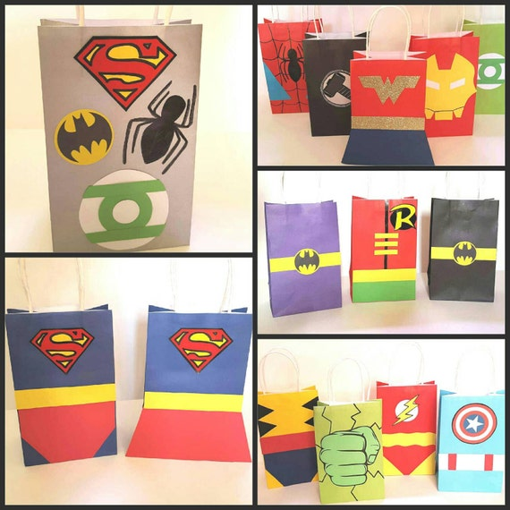 Superhero Party Favor Gift Bags By PartyRockinEvents On Etsy