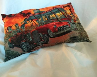 Zombie Drive In Throw Cushion