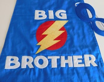 Big Brother Little Brother Cape// Boys Super Hero Cape// Big Brother Gift
