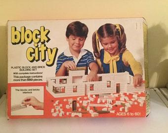 Vintage Block City Blocks Set NIB