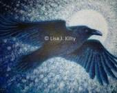 Full Moon Raven - Origina...