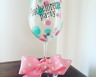 Bachelorette wine glass- Set of 4