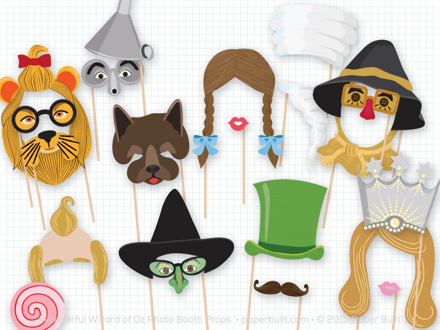 Wizard Of Oz Party Decorations Wizard Of Oz Party Photo Booth Props Wonderful Wizard Of Oz