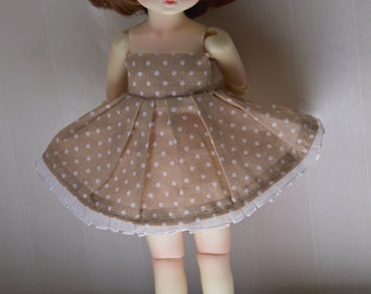 Brown dotted dress - Honey delf/YOSD