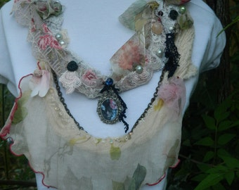 Silk chiffon Victorian necklace