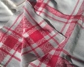 Reserved Large Red Damask Tablecloth French Cotton French Empire Style #sophieladydeparis