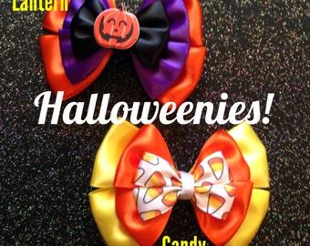 Halloween Candy Corn & Pumpkin bows