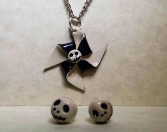 Nightmare before Christmas earrings and necklace