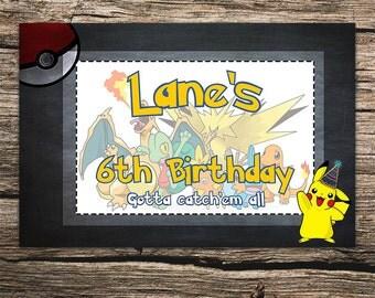 Birthday Pokemon Banner Digital download