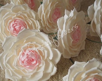 Wedding bouquet,bouquet paper flower, bridal bouquet flower, paper flower giant rose, big rose,paper flower, wedding flower,centerpiece.