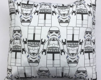 Star Wars Stormtrooper Fabric Cushion Cover Storm Trooper - handmade by Alien Couture