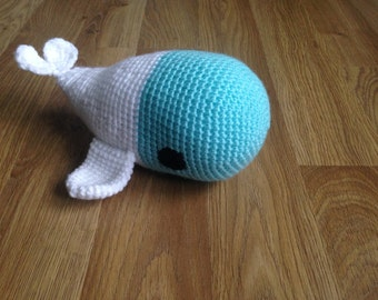 Handmade Crocheted Whale Soft Toy (Large)
