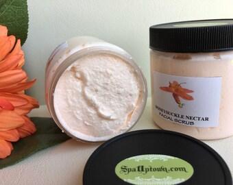 HONEYSUCKLE NECTAR- Spa Facial Cleansing & Exfoliating Sugar Scrub- 8 Fl Oz