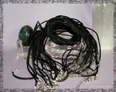 Black Satin Rattail Necklace w/extender chain