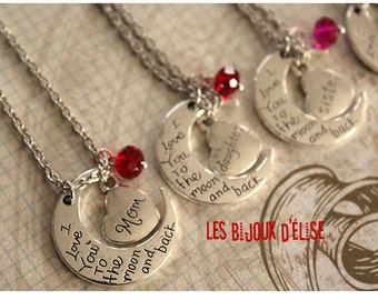 Sale - Family Charms Necklace Mom, Daughter, Sister, Aunt, Grandma Antique Silver