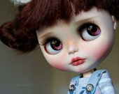 RESERVED Zoe -custom ooak blythe doll, unique art doll by AlmondDoll