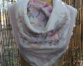 Light Patel Floral Scarf