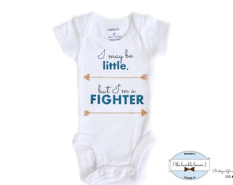 Preemie Newborn Fighter Bodysuit