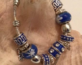 european bead necklace and bracelet set