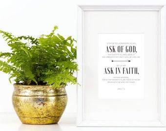 Young Women 2017 Mutual Theme Posters Kit | Natural Wreath | Aarow | James 1: 5-6 | LDS Art | Christian Art