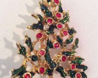 Christmas tree brooch 2 in