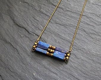 SOLDES-Collier court ethnique- fait main-hématite-pierre semi-précieuse-turquoise africaine-quartz (CO1 TAÏA) turquoise africaine-quartz