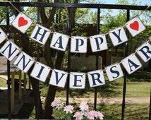 Happy Anniversary Banner - Banners - Congrats Banner - Happt Birthday Signs Birthday Decorations