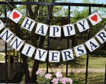 Happy Anniversary Banner - Banners - Congrats Banner - Happt Birthday Signs Birthday Decorations