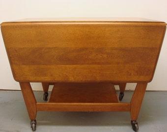Heywood Wakefield Expandable Cart/ Drop Leaf Breakfast Table
