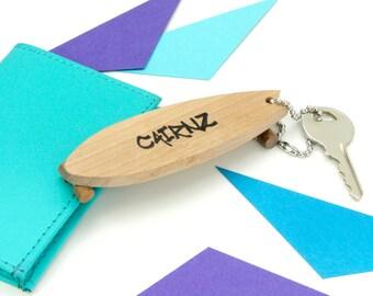 Personalised Long Board Keyring