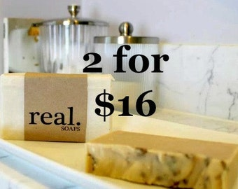 2 for 16, Mix and Match, Shop Special, Any Two Bars, Soap Deal, Bulk Soap Deal