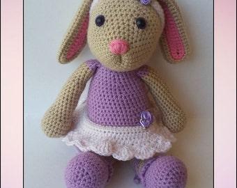 Crochet Pattern - Blossom the Ballerina Bunny